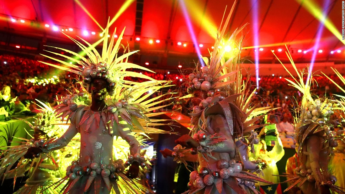 Dancers perform during the ceremony.
