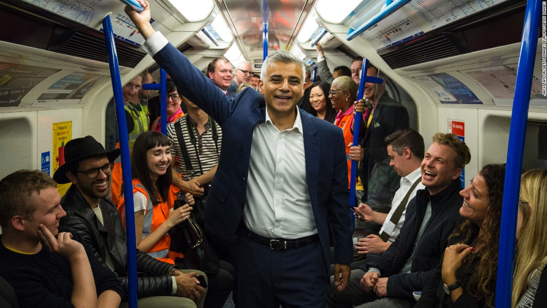 His younger brother, London mayor Sadiq Khan (center), also trained at Earlsfield before becoming a lawyer and then politician.