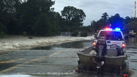 Rapides Sheriff SOG Deputies start rescue operations in rough waters.