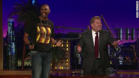 Montell Jordan surprised James Corden for his birthday on the Late Show