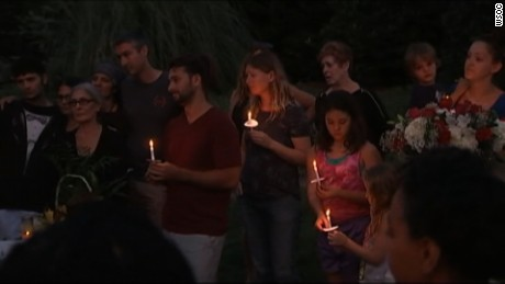 Dozens of people gathered in Charlotte for a vigil for Harris on Tuesday.