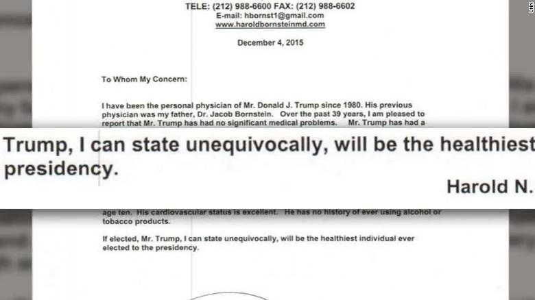 Trump doctor assessment health gupta lv_00001420
