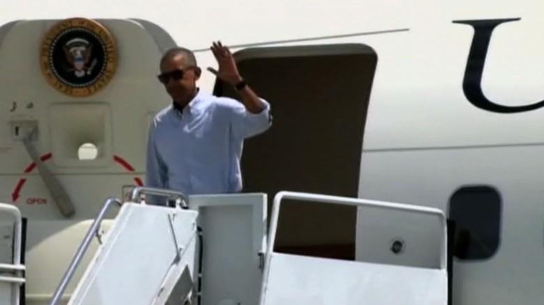 Obama Louisiana arrival flood tour lv_00000000