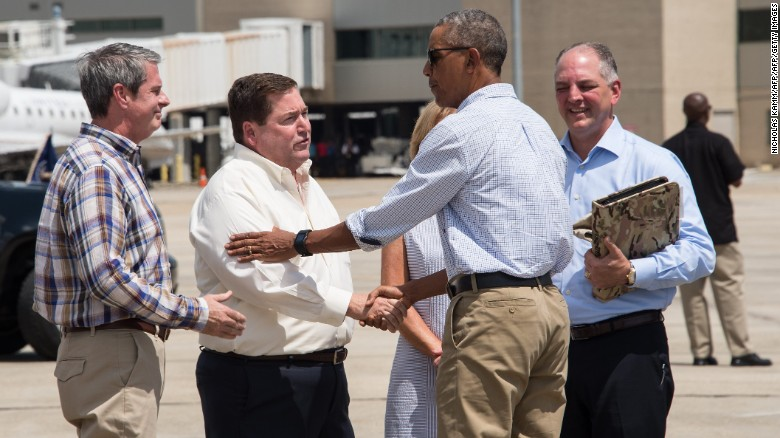Obama tours Louisiana amid criticism that he's late