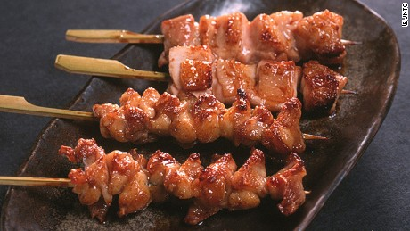Ice-cold beer and salty chicken skewers are a golden couple in Japan's culinary world.