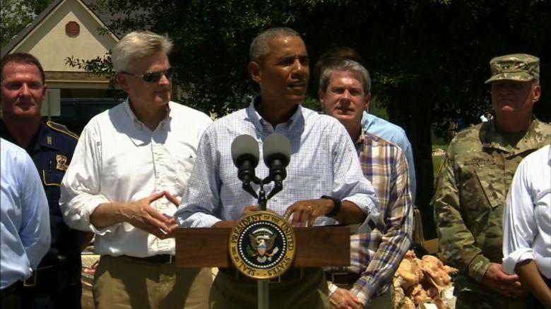 Obama speaks Louisiana flooding _00000000