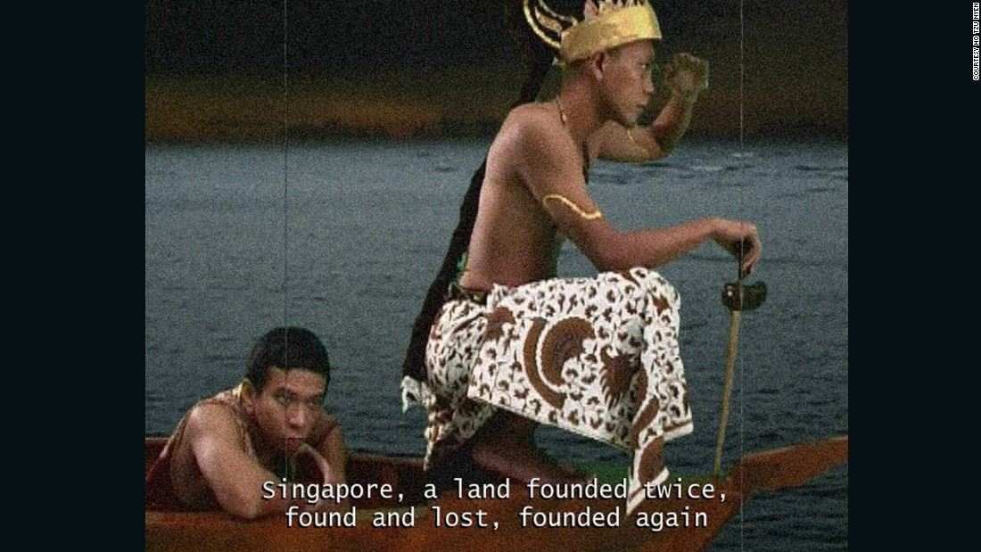 This short film explores the mythical founding of Singapore. Widespread belief is that Utama, the first King of Malays, founded Singapore and named it after seeing a lion on the island's shore -- Singa means lion and and pura means city in indigenous Malay.