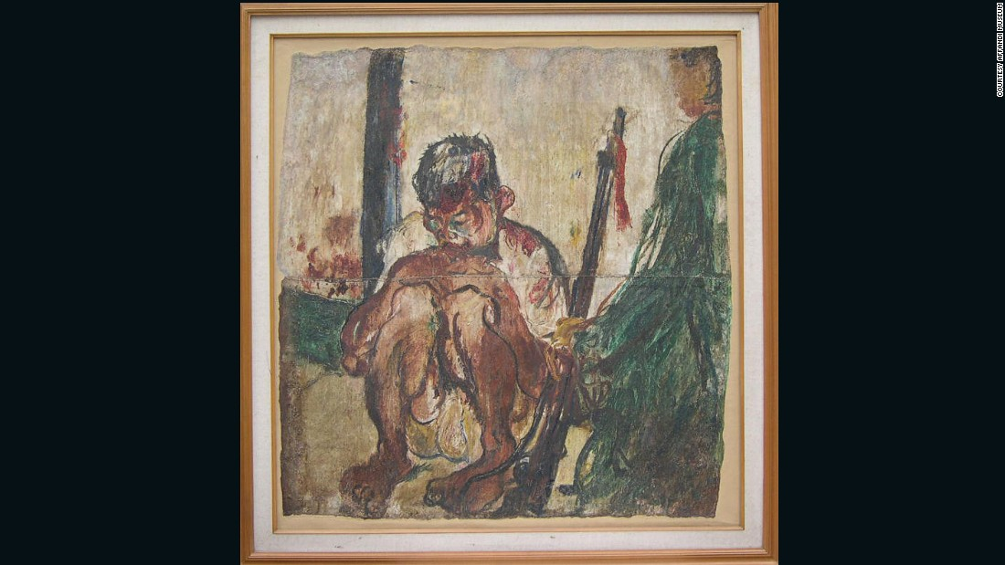 Affandi was one of Indonesia's modern painters known for his simplicity -- while he often painted homeless people, beggars on the street, or self-portraits, what he painted simply described the people themselves.