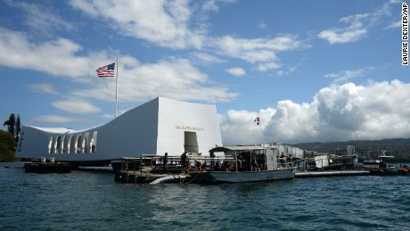 "Japan's first lady has visited Pearl Harbor for the first time to pay tribute to the victims of the Japanese attack 75 years ago. Akie Abe said in her Facebook entry Monday, Aug. 22, 2016, that she laid flowers and prayed at the USS Arizona Memorial. ""I offered flowers and a prayer,"" she wrote in a short message."