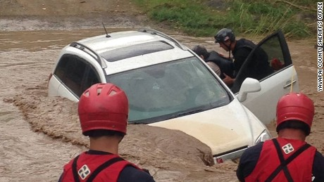Elderly couple rescued from flood