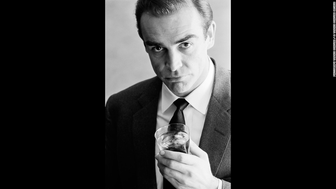 Actor Sean Connery in a Smirnoff vodka advertisement in January 1962.
