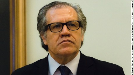 SANTIAGO, CHILE - MARCH 08, 2016: Secretary General of the Organization of American States Luis Almagro looks on during his visit to Chile to meet Foreign of Chile Minister Heraldo Muñoz at Ministry of Foreign Affairs on March 08, 2016 in Santiago, Chile. (Photo by Sebastián Vivallo Oñate/Agencia Makro/LatinContent/Getty Images)