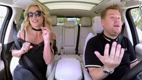 Britney Spears joins James Corden for a brand new Carpool Karaoke.