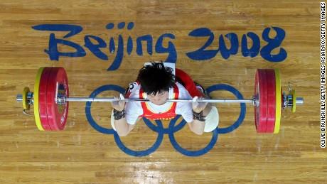 Liu Chunhong of China competes at the 2008 Olympic Games in Beijing, China.