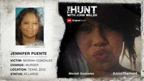 Jennifer Puente, then 18, is suspected of knifing her friend Moriah Gonzales, 15, to death and then burning her body.