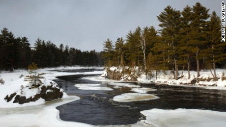 The East Branch of the Penobscot River flows near land owned by Roxanne Quimby, the founder of Burt's Bees cosmetics company. Quimby has offered to donate a 70,000-acre parcel she owns to create a national park adjacent to the state's Baxter park. A group representing wood-related industries on Tuesday, Nov. 1, 2011 joined prominent hunting and snowmobiling groups in opposition to the proposal.