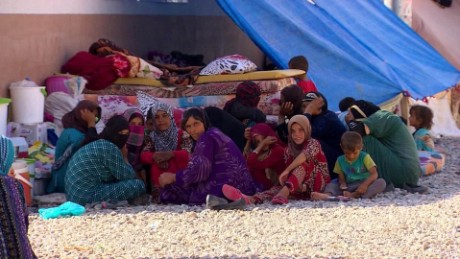 ISIS' brutal rule in Mosul has forced hundreds of thousands to flee the city, with many now living in displacement camps.