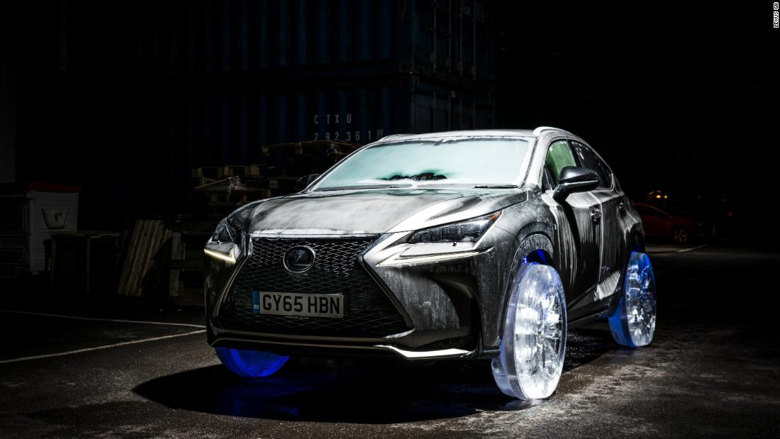Lexus is chasing customer awareness in Europe, and its UK division decided to grab some headlines by commissioning an ice sculptor to make ice tyres for its NX crossover.