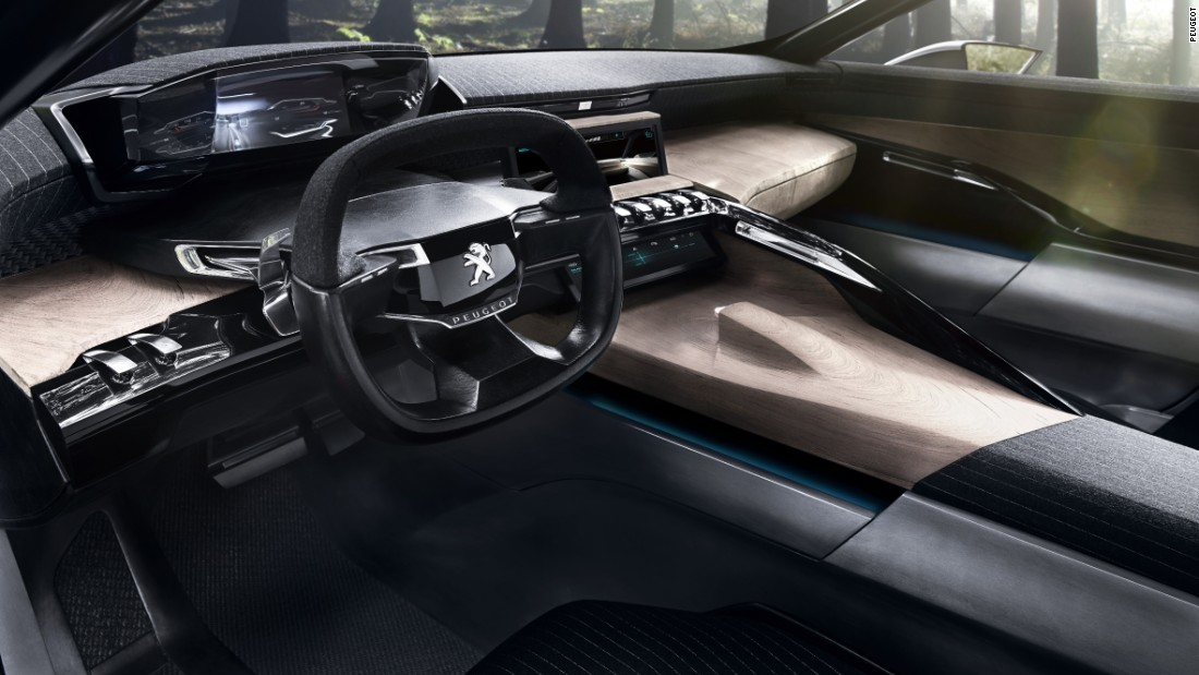 The cabin of the Exalt is almost pure fantasy - although it showed how Peugeot hopes to incorporate elements like wood and even stone in its future vehicles.