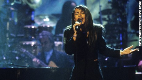 "Aaliyah performs at TNT Presents ""A Gift of Song"" circa 1997."