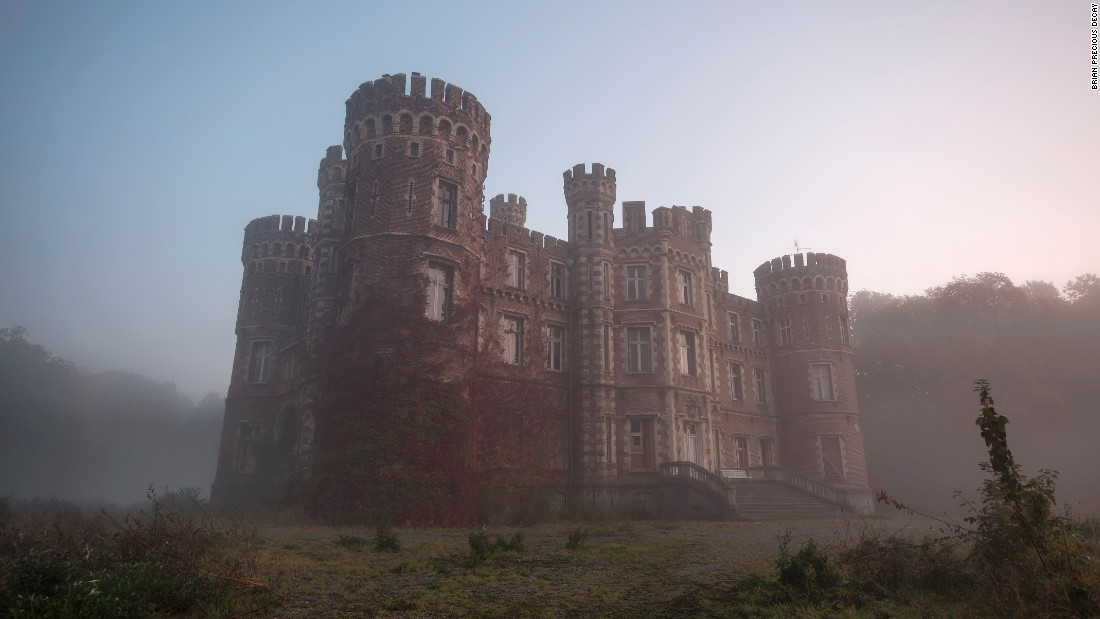 A castle in Belgium where we got caught by police -- it was recently sold.