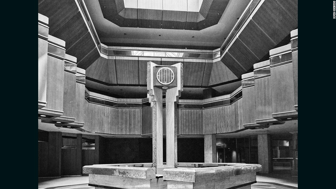 Foyer of the Sun hotel after its abandonment. <br /><br />There are plans to revive the site, although this will require massive investment at high risk.