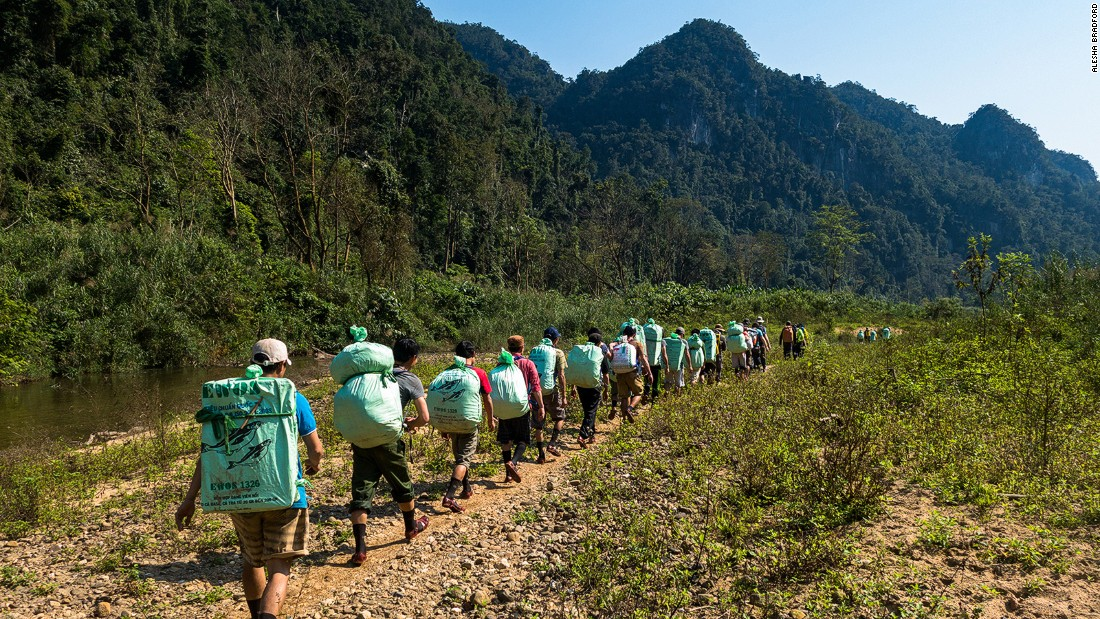 A strong crew of 20 porters, three guides, two caving experts, two chefs and two national park rangers assist on every expedition to Hang Son Doong. Just like the sherpas of Nepal it's the porters of Phong Nha who are the unsung heroes that make the adventure possible.