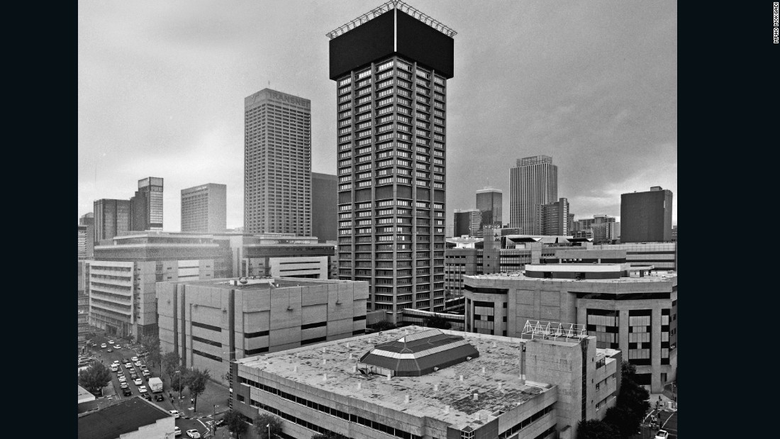 The 140-meter Absa Tower in downtown Johannesburg opened in 1970, when it was the second tallest building in the city. <br /><br />Absa Bank was later incorporated into Barclays Africa, which still uses the building as its headquarters.