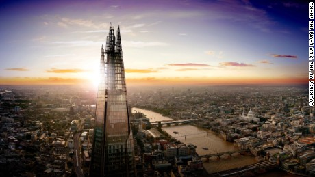 The Shard - depicted here at sunset - towers over London's skyline. The 306m building could be a sign of what is to come - more than 430 new tall buildings are currently in various stages of planning for London.