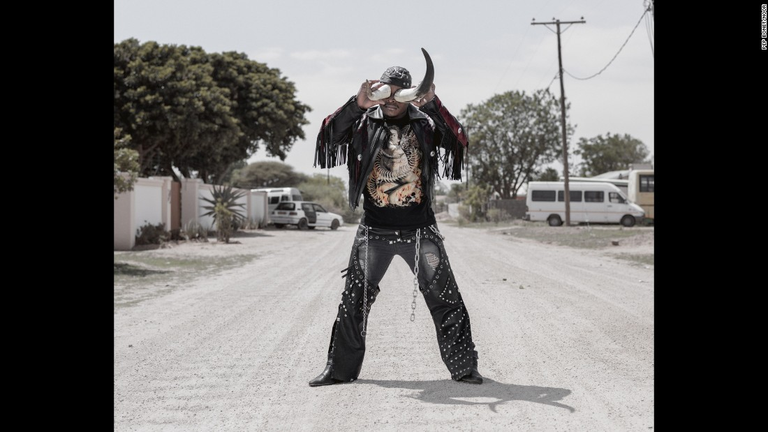 "A 27-year-old man nicknamed Cybok is a heavy-metal fan from the southern African nation of Botswana. Photographer Pep Bonet documented the metal subculture there in December. ""I started listening to heavy metal in 2008,"" Cybok told Bonet. ""I liked the way the metalheads dressed and behaved, so I started associating myself with them and I became a rocker."""