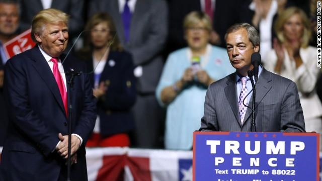 Afbeelding bij Nigel Farage: Donald Trump should focus on issues