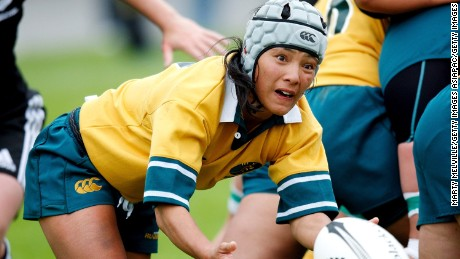 WELLINGTON, NEW ZEALAND - OCTOBER 20:  Cheryl Soon of the Wallaroos offloads the ball during the second test match between the New Zealand Black Ferns and the Australian Wallaroos at Porirua Park on October 20, 2007 in Wellington, New Zealand.  (Photo by Marty Melville/Getty Images)
