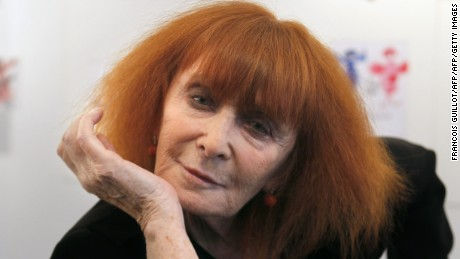 French fashion designer Sonia Rykiel poses on June 3, 2010 in Paris, on the eve of the start of an exhibition of 200 of her drawings. AFP PHOTO FRANCOIS GUILLOT / AFP / FRANCOIS GUILLOT        (Photo credit should read FRANCOIS GUILLOT/AFP/Getty Images)