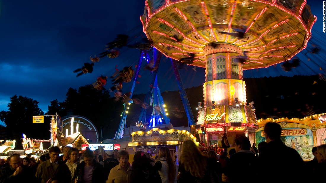 Germany's annual Wurstmarkt is the world's biggest wine festival. Hundreds of thousands of visitors gather annually to drink, eat and enjoy the funfair.