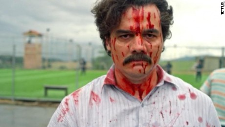 "Wagner Moura as Pablo Escobar in the Netflix series ""Narcos"""