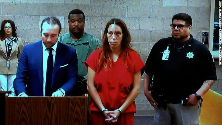 Michelle Martens was charged in court Thursday with kidnapping and child abuse resulting in death.