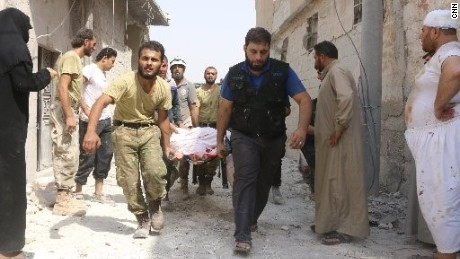 Children among dead in Syria barrel bomb attack