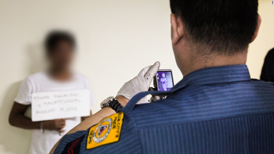 Mug shots are taken, and those surrendering are required to provide a urine sample for drug testing.