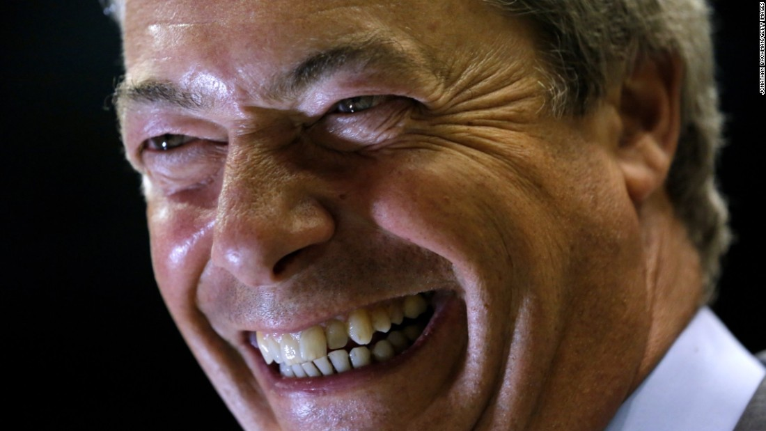 """Nigel Farage, former leader of the UK Independence Party, speaks to the media after a <a href=""""http://www.cnn.com/2016/08/24/politics/donald-trump-nigel-farage/index.html"""" target=""""_blank"""">campaign rally for Donald Trump</a> in Jackson, Mississippi, on Wednesday, August 24."""