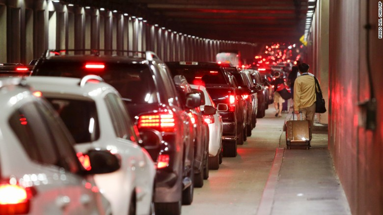 Traffic around the airport was snarled after unfounded reports of an active shooter.