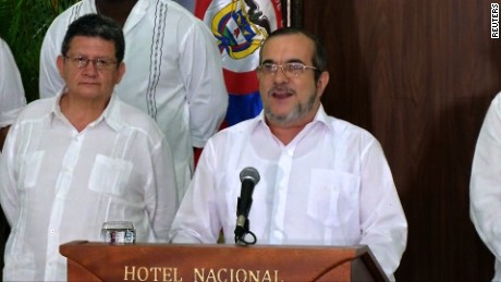 title: FARC leader orders rebels announces definitive ceasefire and cessation of hostilities following peace deal duration: 00:03:00 site: Reuters author: null published: Wed Dec 31 1969 19:00:00 GMT-0500 (EST) intervention: no description: null