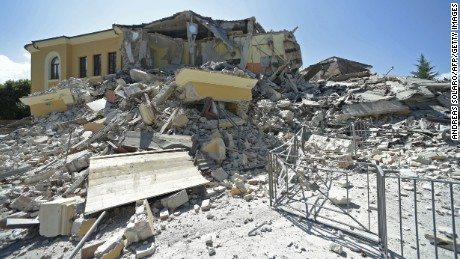 The Romolo Capranica school crumbled in the Italian town of Amatrice