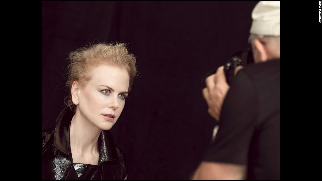 Photographer Peter Lindbergh gets a tight shot of actress Nicole Kidman.