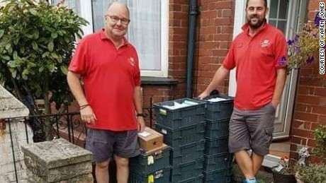 Postmen deliver crates full of birthday cards to Ollie's house in Exmouth.