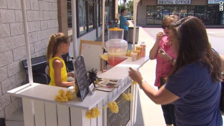 Girl lemonade stand