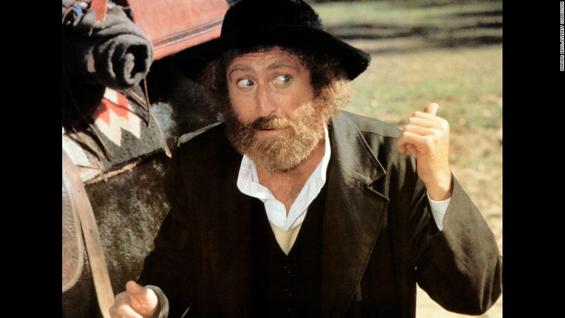 """Wilder played a rabbi in the 1979 comedy """"The Frisco Kid."""""""