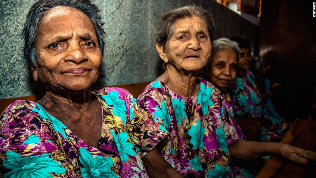 """Women at the Home for the Dying and the Destitute.""""I found seeing simple, everyday acts done with such care and support from the sisters really overwhelming,"""" Gautam says."""