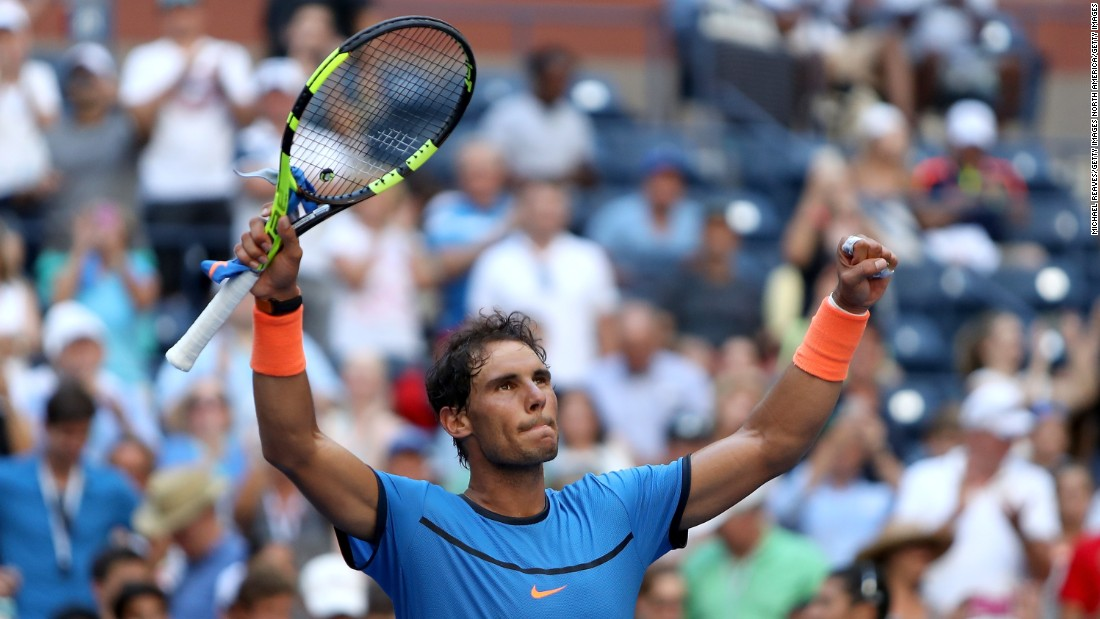 Two-time champion Rafa Nadal was happy to be back in grand slam action after a long-term wrist injury kept him out of both the French Open and Wimbledon.