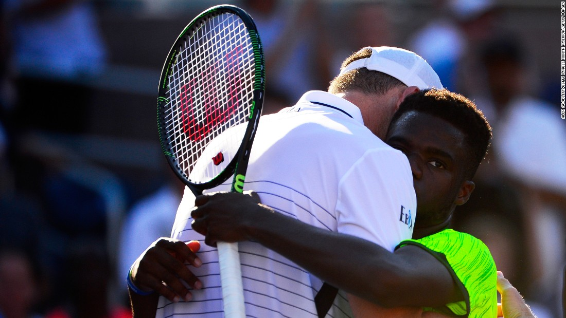 """Eighteen-year-old American Frances Tiafoe fell agonizingly short of sending 20th seed John Isner hurtling out of the tournament. """"It hurts, it hurts a lot,"""" Tifaoe told reporters, having served for the match in the fifth set."""