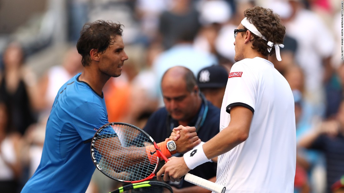 The Spaniard was untroubled in the first round, defeating Uzbekistan's Denis Istomin 6-1 6-4 6-2 to extend his perfect record in US Open first-round matches to 12 without defeat.